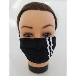 "Cotton face mask ""Two Stripes"""