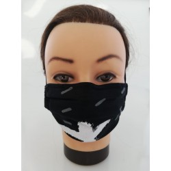 "Cotton face mask ""White Cross"""