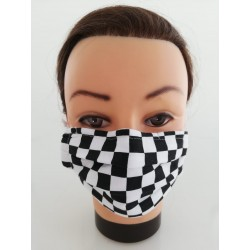 "Cotton face mask ""Chess"""