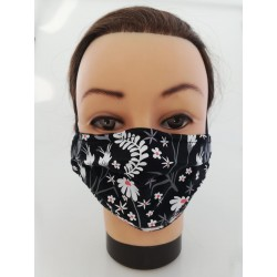 "Cotton face mask ""Nature Dark"""