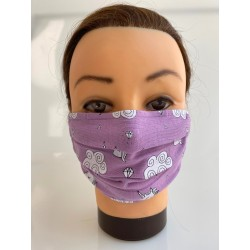 "Cotton face mask ""Purple..."