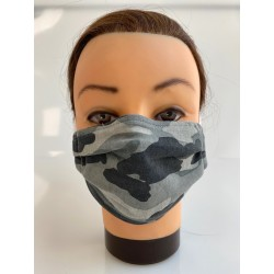 "Cotton face mask ""Black Camo"""